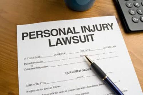 Personal injury lawsuit paperwork
